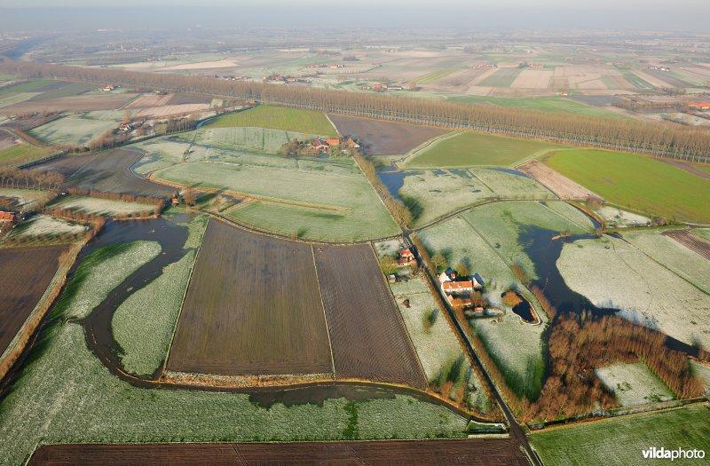 Winterse polders van Moerkerke